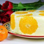 Narancsos joghurttorta