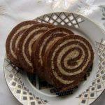 Diókrémes keksztekercs – sütés nélküli