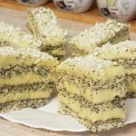 Mákos, vaníliakrémes finomság